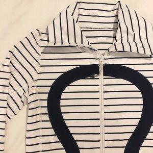 Lululemon Women's Navy & White Stripe Jacket